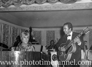 American cabaret singer Frances Faye at Chequers nightclub, Sydney, April 10, 1965. (2)