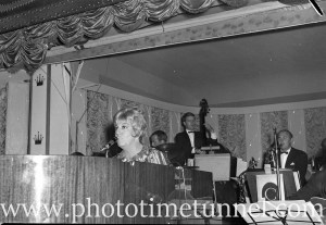 American cabaret singer Frances Faye at Chequers nightclub, Sydney, April 10, 1965. (7)