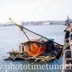 Balsa raft visits Newcastle, 1973