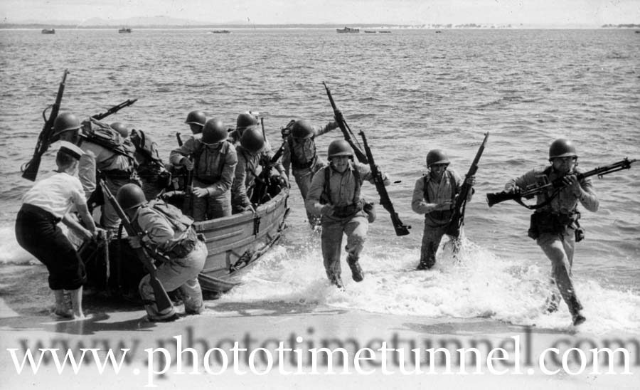 The wartime US invasion of Port Stephens
