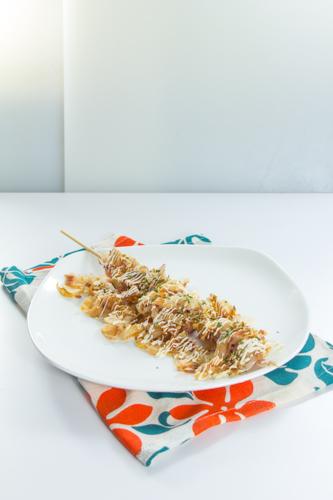 【日式木魚片魷魚串燒】專業食物攝影師的圖片庫