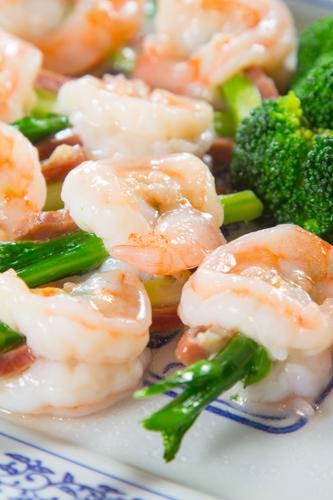 【鮮蝦蘆筍炒蝦球】印刷級的美食相