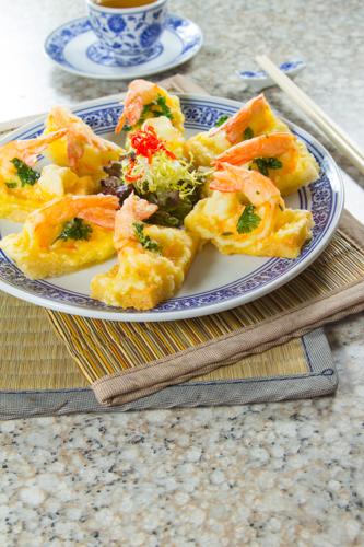 【惹味香口小食前菜酥炸蝦多士】的美饌素材畫像
