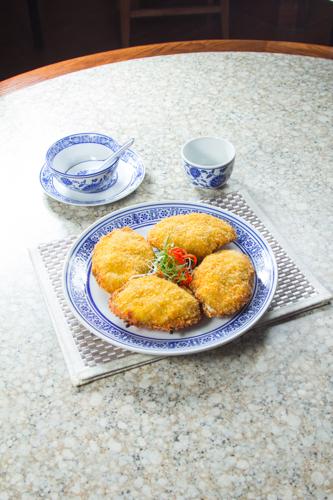【酒樓晚宴會菜海鮮焗釀蟹蓋】給餐館的好用素材