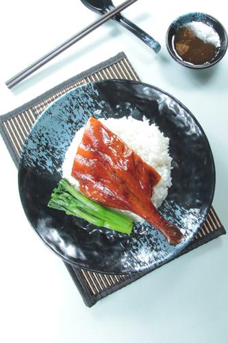 【港式燒臘燒鵝髀碟頭飯油菜】給餐館的好用素材