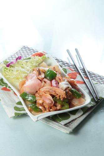 【鑊氣小菜子薑青椒炒雞柳】的圖庫相片
