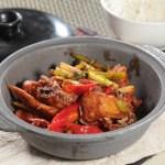 【川味勁辣菜式辣子雞煲配白飯】的美饌素材畫像