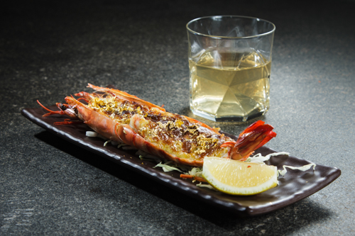 【豪華日本海鮮料理金箔味噌醬燒焗大蝦】便宜好用的圖庫相片