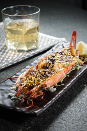【豪華日本海鮮料理金箔味噌醬燒焗大蝦】印刷級精美而且抵買抵用美食相