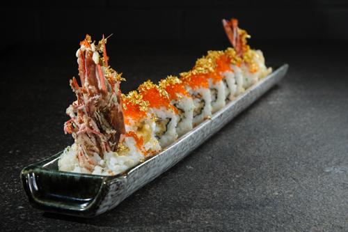 【豪華日本料理金箔蟹子炸大蝦卷物壽司】大量省錢素材畫像盡情用