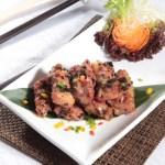 オリーブと豚肉カルビの煮込み・レストランのメニューデザイン用グルメ写真素材