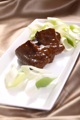 ねぎと牛肉の煮込み・ダウンロード可能なグルメ写真素材
