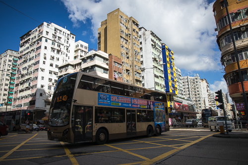 sham shui po_001_the bus passed the intersection of Cheung Sha Wan Road and Qin Chow Street