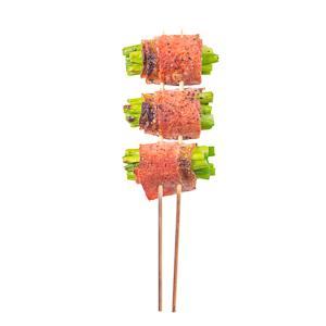 【煙肉蒜心串燒 | 直身正面】可以下載已PHOTOSHOP去背的食物相