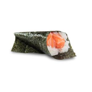 三文魚手卷的去背退地食物素材相片