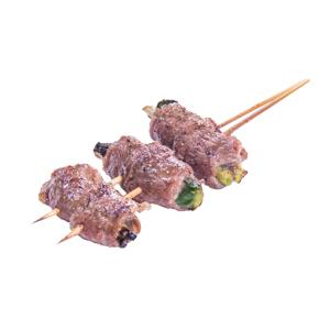 野菜牛肉捲串燒的去背退地食物素材相片