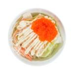 蟹棒魚子沙拉的去背退地食物素材相片