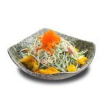 蟹籽黃瓜芒果沙拉的去背退地食物素材相片
