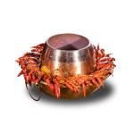 辣椒小龍蝦鍋的去背退地食物素材相片