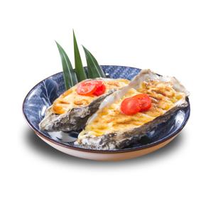 忌廉汁烤焗廣島蠔的去背退地食物素材相片