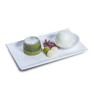 紅豆團子綠茶心太軟配牛奶雪糕的去背退地食物素材相片