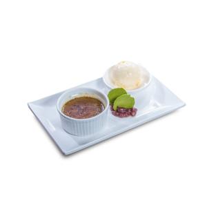 紅茶燉蛋配牛奶雪糕的去背退地食物素材相片