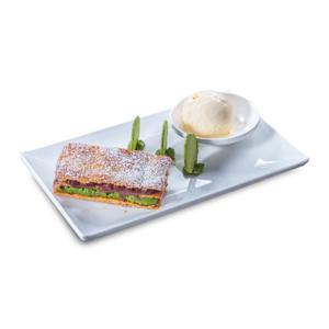 【綠茶拿破崙千層酥配牛奶雪糕】餐廳嘢食賣相先決是常識吧