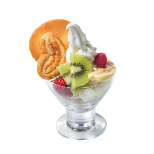 餅乾混合水果冰淇淋的去背退地食物素材相片