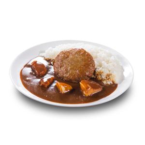 牛肉漢堡咖哩飯的去背退地食物素材相片