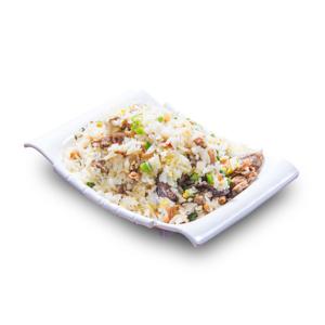 鰻魚冬菇粒炒飯的去背退地食物素材相片