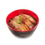 醬油燒豬腩肉飯的去背退地食物素材相片