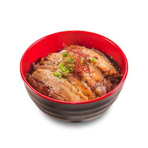 【醬油燒豬腩肉飯】已剪去背景飲食業專用素材圖像