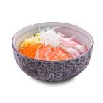 三文魚油甘魚刺身丼飯的去背退地食物素材相片
