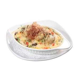 【忌廉白汁廣島蠔焗飯】超過十年經驗影師的美食作品
