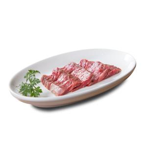 燒肉用無調味牛肉上橫隔膜部位的去背退地食物素材相片