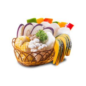 蔬菜拼盤籃的去背退地食物素材相片