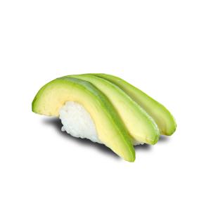 牛油果壽司的去背退地食物素材相片