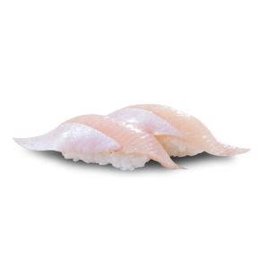 兩件鰤魚壽司的去背退地食物素材相片