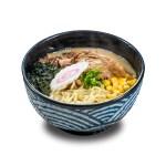 豬軟骨味噌湯粟米鳴門卷日本拉麵的去背退地食物素材相片