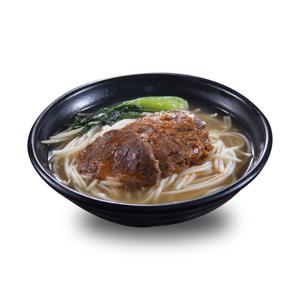 鹵水牛展油菜清湯米線的去背退地食物素材相片