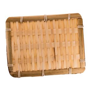竹托盤的去背退地食物素材相片