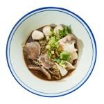 泰式船麵豬肉丸湯麵的去背退地食物素材相片