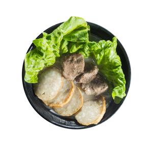 肉片湯河的去背退地食物素材相片