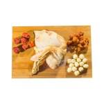 紅棗桂圓人參雞湯材料的去背退地食物素材相片