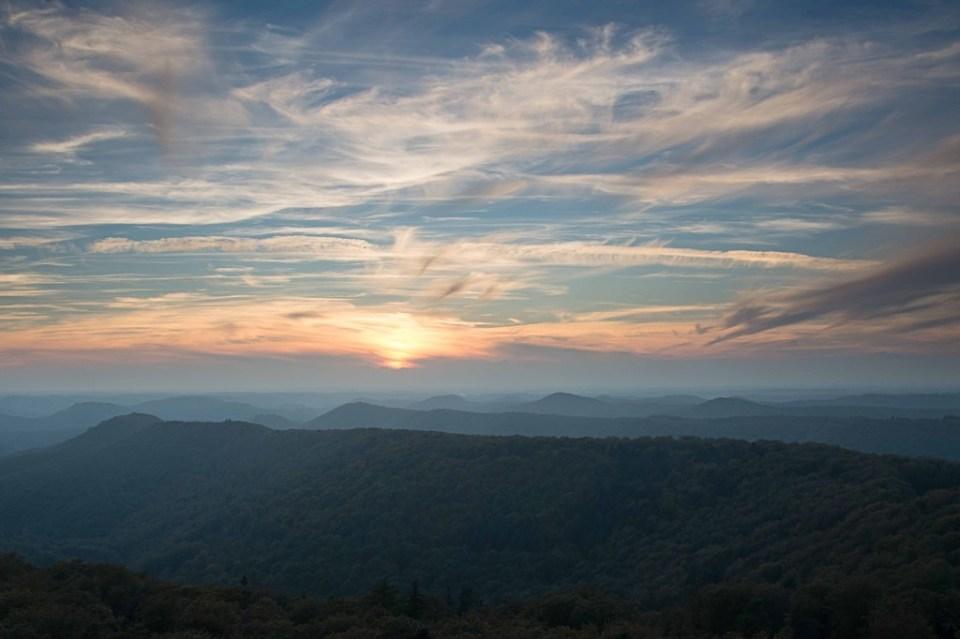 Sonnenuntergang im Pfälzerwald