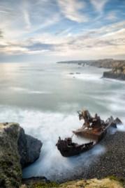 Schiffswrack bei Vilanova de Milfontes