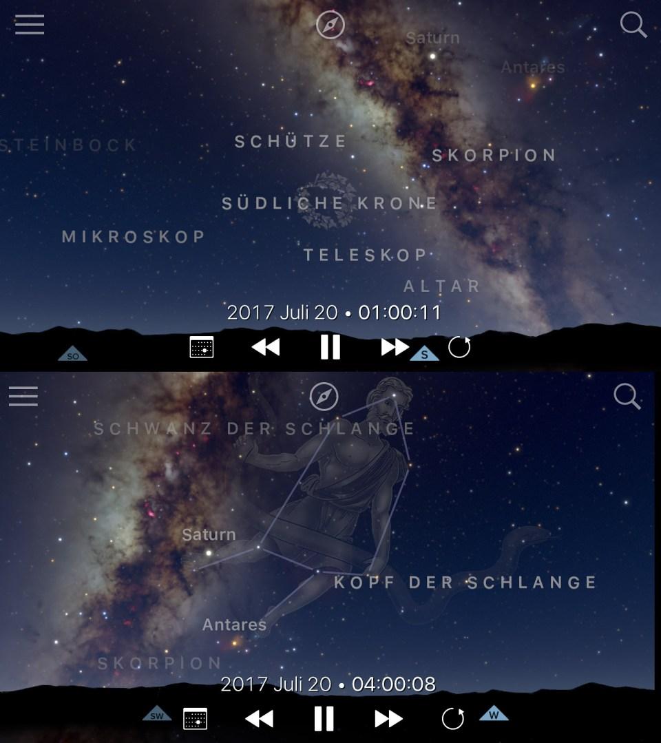 Zentrum der Milchstraße in Teneriffa