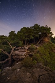 Pfälzerwald Raik Krotofil Startrails Nacht Felsen