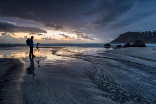 [ m a n i n t h e m i r r o r ] © serdar ugurlu   flakstad beach lofoten norway
