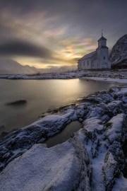 Fotoreise Norwegen, Lofoten, Polarlicht, Aurora, Schnee, Winter, Januar, beste Fotoreise, Polare Stratosphärenwolken